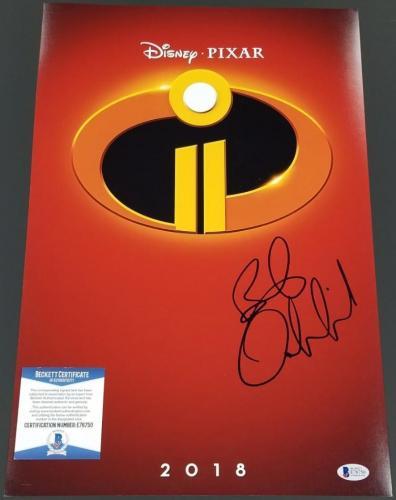 BOB ODENKIRK Signed The Incredibles 2 12x18 Photo Winston ~ Beckett BAS COA
