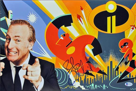Bob Odenkirk The Incredibles 2 Signed 12x18 Photo BAS #D78224