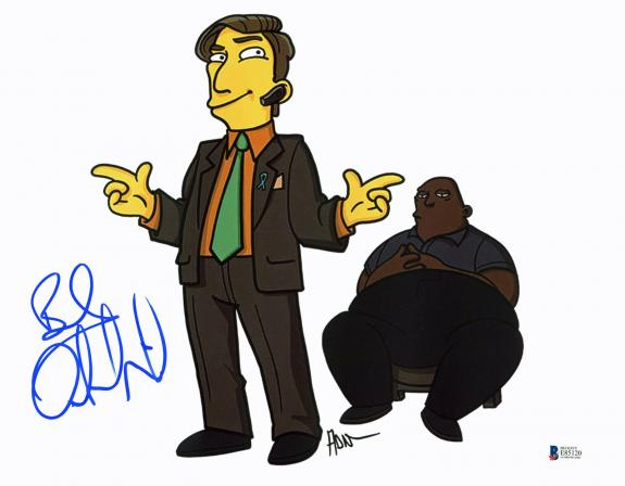 Bob Odenkirk The Simpsons Signed 11x14 Photo Autographed BAS #E85120