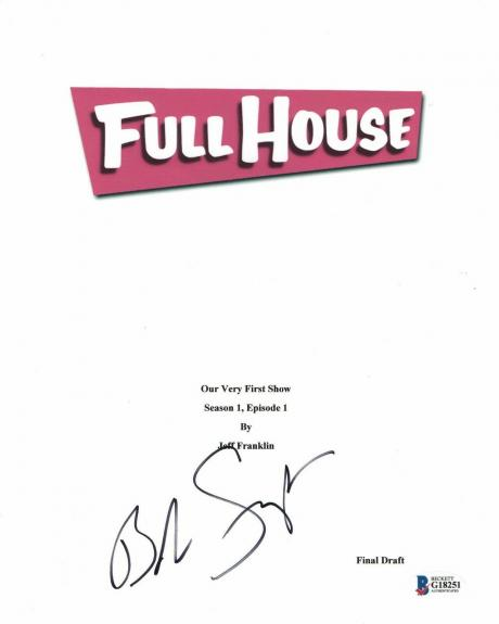 'bob Saget' Autograph 'full House' Signed Movie Script Beckett Bas Coa 1