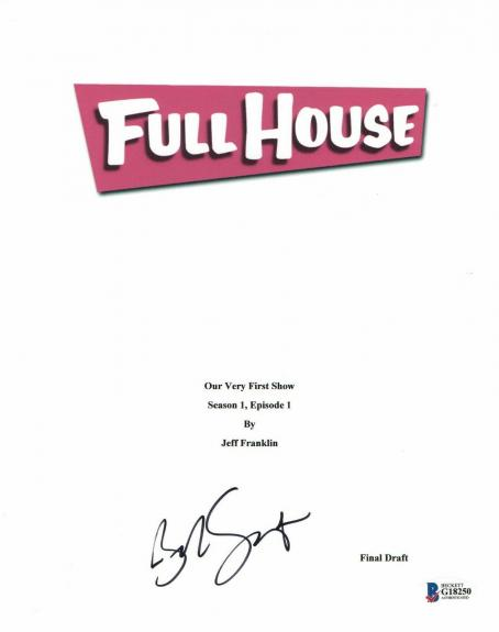 'bob Saget' Autograph 'full House' Signed Movie Script Beckett Bas Coa