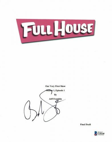 'bob Saget'  Autograph  'full House'  Signed Tv Script Bas Beckett Coa 1
