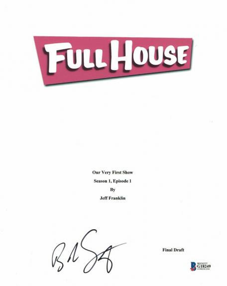 'bob Saget'  Autograph  'full House'  Signed Tv Script Bas Beckett Coa 2