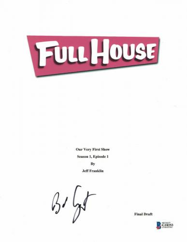 Bob Saget Signed Autographed Full House Full Script Beckett Bas Coa 2