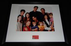 Bob Saget Signed Framed 11x14 Photo Display w/ Full House cast B
