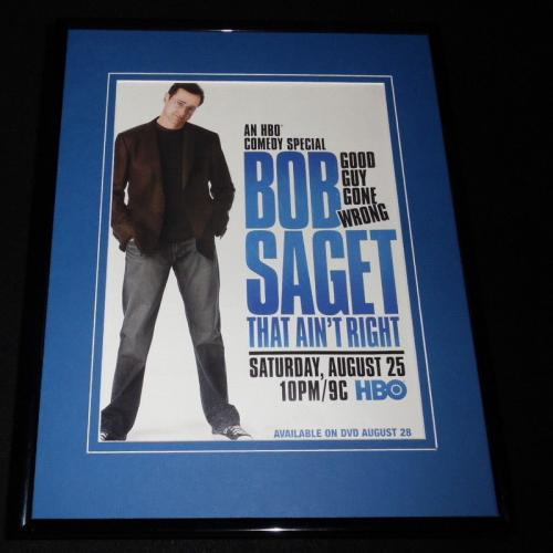 Bob Saget That Ain't Right 2007 HBO Framed 11x14 ORIGINAL Advertisement