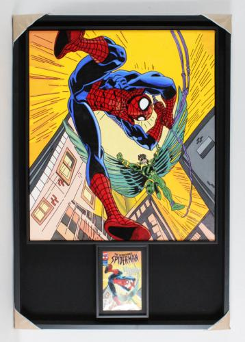 Bob Womack Artwork Spiderman Signed by Stan Lee