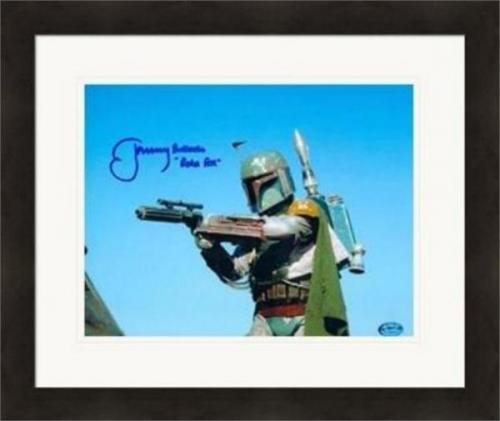 Boba Fett actor Jeremy Bulloch autographed 8x10 photo (Star Wars Return of Jedi Bounty Hunter) Matted Framed