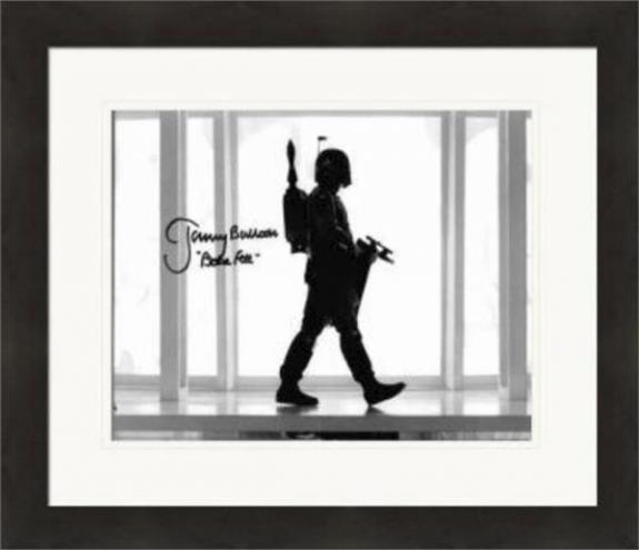 Boba Fett autographed photo by Jeremy Bulloch Size 8x10 (Star Wars Empire Strikes Back) Matted & Framed