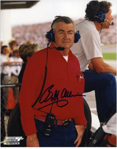 "Bobby Allison Autographed 8"" x 10"" Headset Photograph"