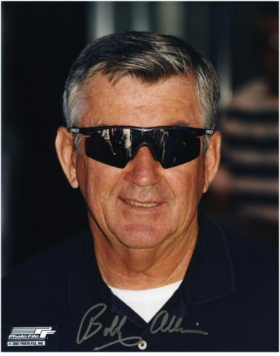 "Bobby Allison Autographed 8"" x 10"" Sunglasses Photograph"
