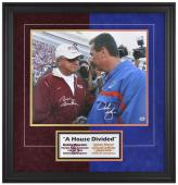 """Bobby Bowden and Urban Meyer Autographed Seminoles and Gators Framed 16"""" x 20"""" Photograph"""