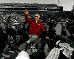 Bobby Bowden Florida State Seminoles Autographed 11'' x 14'' On Shoulders Spotlight Photograph