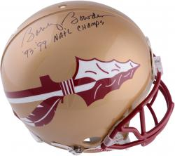Bobby Bowden Florida State Seminoles Autographed Riddell Gold Pro-Line Authentic Helmet with 93 & 99 National Champion Inscription