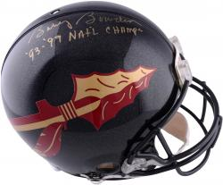 Bobby Bowden Florida State Seminoles Autographed Riddell Pro-Line Authentic Helmet with 99 & 99 National Champion Inscription