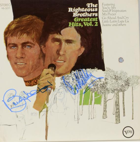 Bobby Hatfield & Bill Medley Autographed The Righteous Brothers Greatest Hits Vol.2 Album Cover - PSA/DNA COA