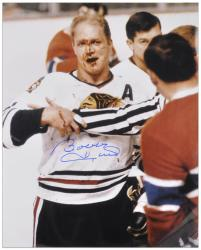 Chicago Blackhawks Bobby Hull Autographed 16'' x 20'' Photo - Mounted Memories