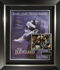 Bodyguard Whitney Houston Kevin Costner Signed Poster Framed