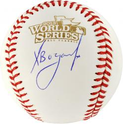 Xander Bogaerts Boston Red Sox 2013 World Series Champions Autographed Baseball - Mounted Memories