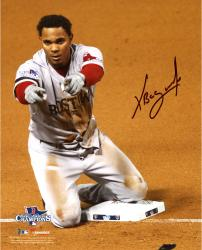 "Xander Bogaerts Boston Red Sox Autographed 8"" x 10"" Knee on Base Photograph"