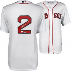 Xander Bogaerts Boston Red Sox Autographed Replica White Jersey - Mounted Memories
