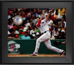 Xander Bogaerts Boston Red Sox Framed 20'' x 24'' Gamebreaker Photograph with Game-Used Ball - Mounted Memories