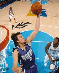 "Milwaukee Bucks Andrew Bogut Autographed 8"" x 10"" Photo - Mounted Memories"