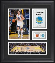"Andrew Bogut Golden State Warriors Framed 15"" x 17"" Collage with Team-Used Ball"