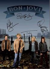 Bon Jovi Autographed Facsimile Signed Beach Poster