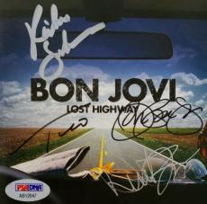 Bon Jovi Band Signed Lost Highway CD Cover Booklet Jon Richie David Tico PSA