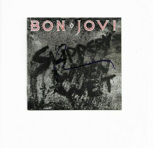 "BON JOVI RICHIE SAMBORA signed ""SLIPPERY WHEN WET"" CD BOOKLET BECKETT COA (BAS)"