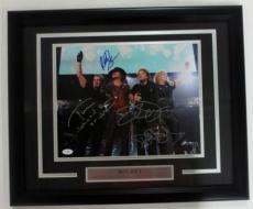 Bon Jovi Rock & Roll Signed & Framed 11x14 Band Photo JSA X41949