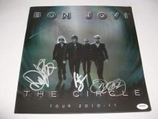 """BON JOVI signed auto'd """"THE CIRCLE"""" TOUR PROGRAM BOOK PSA/DNA LOA! JON BON JOVI!"""
