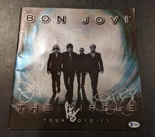 "BON JOVI signed autographed ""THE CIRCLE"" TOUR PROGRAM BECKETT LOA (BAS) 🎁"