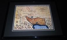 Bonanza Cast Facsimile Signed Framed 8x10 Map Photo Lorne Greene