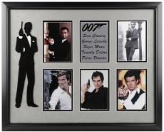 James Bond 007 Framed 5 Actors Photos