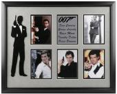 James Bond 007 Framed 5 Actors Photos