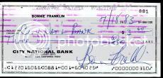 Bonnie Franklin Jsa Authenticated Signed Check Autograph