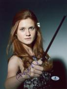 "Bonnie Wright Autographed 8"" x 10"" Harry Potter Wand Photograph - Beckett COA"