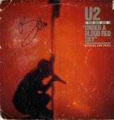 Bono Autographed Signed Blood Red Sky Album Lp Cover AFTAL
