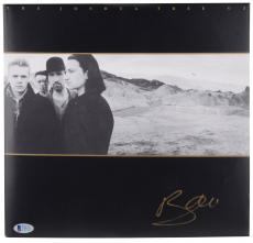 Bono Autographed U2 The Joshua Tree Album Cover- BAS COA