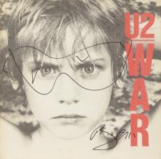 Bono Autographed U2 War Album With Hand Sketched Glasses - PSA/DNA COA