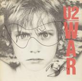 Bono Autographed U2 War Album Cover With Hand Sketched Glasses - PSA/DNA COA