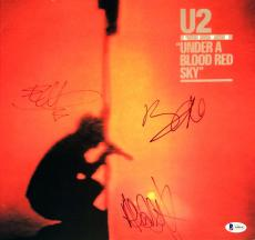 Bono Edge Adam Clayton Signed U2 Under A Blood Red Sky Album Vinyl BAS A80642