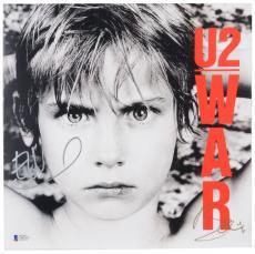 Bono & Edge Autographed U2 WAR Album Cover- BAS COA