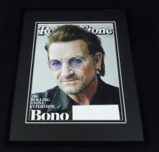 Bono Framed ORIGINAL 2018 Rolling Stone Magazine Cover U2