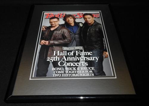 Bono Mick Jagger B Springsteen Framed 11x14 ORIGINAL 2009 Rolling Stone Cover