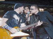 BONO SIGNED 11x14 THE EDGE BILLIE JOE ARMSTRONG AUTO B