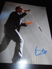 BONO SIGNED AUTOGRAPH 11x14 PHOTO U2 BAND IN PERSON PROMO RARE ELEVATION COA X6