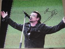 BONO SIGNED AUTOGRAPH 11x14 U2 ELEVATION SPIDERMAN AUTO